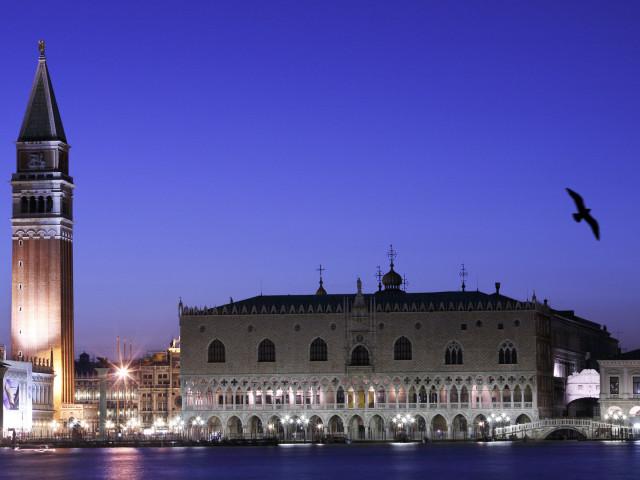 STORICA ESTERNI: Venezia, San Marco, Campanile, Palazzo Ducale