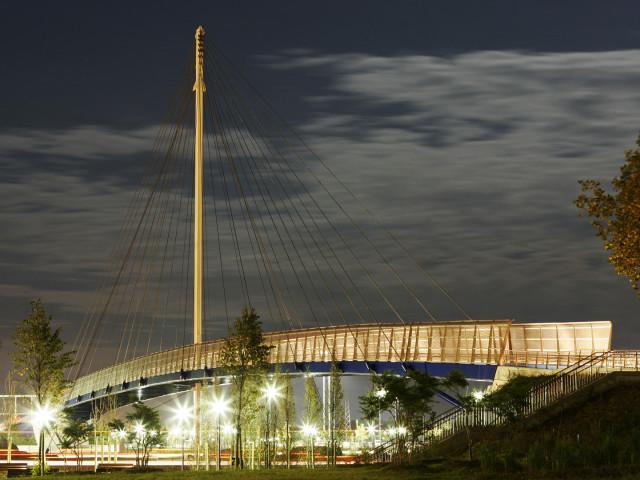 INFRASTRUTTURE: Mestre, ponte di collegamento, arch. Antonio Di Mambro