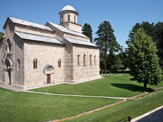 STORICA ESTERNI: Kossovo, monastero Decani, presidio UNESCO