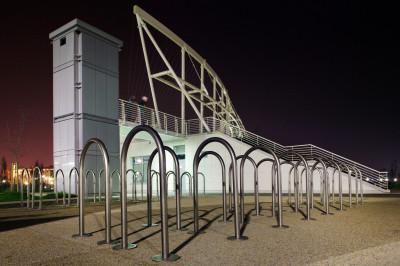 Architettura esterni: Mestre Parco di San Giuliano, servizi accessori, arch. Antonio Di Mambro