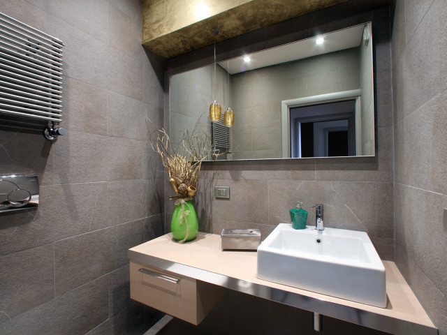 CONTEMPORANEA INTERNI: Mestre, bagno ufficio, arch. Patrizia Sartori
